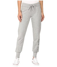 Converse Rubber Print Fleece Pants Vintage Grey Heather Women's Casual Pants Gray