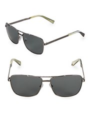 Ermenegildo Zegna 61Mm Aviator Sunglasses Gunmetal
