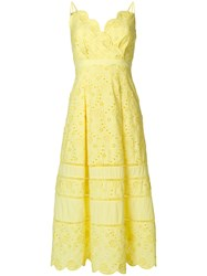 Three Floor Zest Dress Yellow And Orange