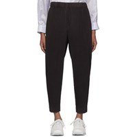 Homme Plisse Issey Miyake Grey Pleated Tapered Trousers
