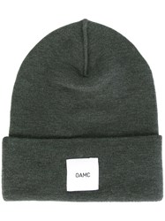Oamc Logo Patch Beanie Green
