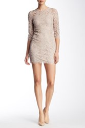 Dress Forum 3 4 Sleeve Lace Dress Beige