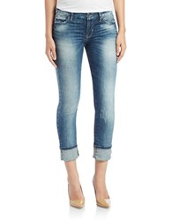 Guess Distressed Cropped Jeans Blue