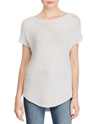 Lauren Ralph Lauren Metallic Boatneck Sweater Silver