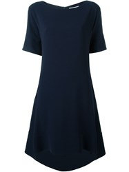 Alberto Biani High Low Hem Dress Blue
