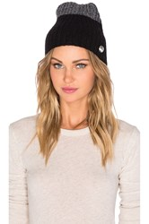 Marc By Marc Jacobs Patchwork Wool Beanie Black