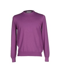 Alpha Studio Knitwear Jumpers Men Mauve