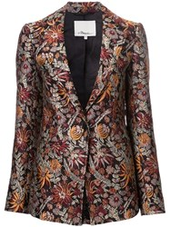 3.1 Phillip Lim Floral Cloque Blazer Brown