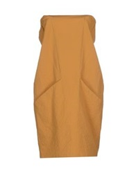 Les Prairies De Paris Short Dresses Ocher