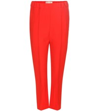 Marni Wool Blend Trousers Red