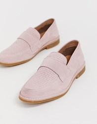 Selected Homme Penny Loafer In Pink