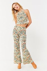 Urban Outfitters Uo Floral Sweater Flare Pant Assorted