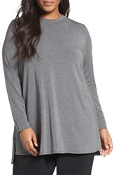 Eileen Fisher Plus Size Women's Stretch Tencel Lyocell Jersey Tunic