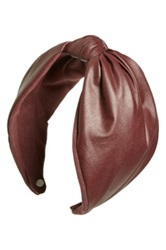 Cara Accessories 'Love' Faux Leather Headband Red