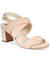 Alfani Women's Regann Block Heel Sandals Only At Macy's Women's Shoes Blush