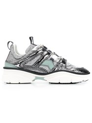 Isabel Marant Panelled Sneakers Grey