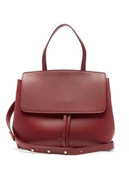 Mansur Gavriel Mini Lady Leather Cross Body Bag Burgundy