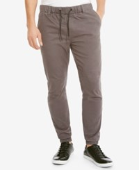 Kenneth Cole Reaction Men's Twill Jogger Pants Med Gray