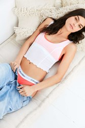 Out From Under Milli Cropped Ribbed Tank Top White