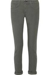 Rag And Bone Dre Mid Rise Straight Leg Jeans Green