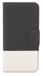 Kate Spade Leather Wrap Folio Iphone 6 6S Case Black Pebble