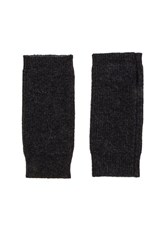 Fine Collection Fingerless Mittens Black