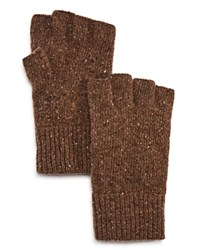 Bloomingdale's The Men's Store At Donegal Fingerless Gloves Walnut