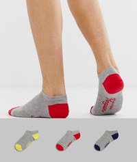 Penguin Original 3 Pack Trainer Sock Grey