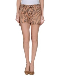 Gold Case Denim Shorts Apricot