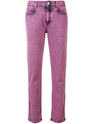 Stella Mccartney Cropped Denim Jeans Pink And Purple