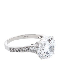 Carat 3.5Ct Solitaire Ring Female White Gold