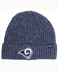 47 Brand '47 Los Angeles Rams Nfl Back Bay Cuff Knit Hat Heather Navy