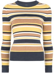Joostricot Striped Knit Top Yellow