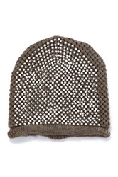 Do Everything In Love Rhinestone Beanie Brown
