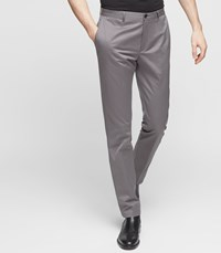 Reiss Ship Slim Fit Chinos In Mid Grey