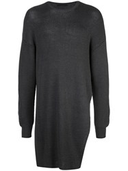 The Viridi Anne Oversized Knit Sweater Grey