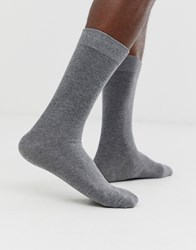 Selected Homme Classic Sock In Grey Marl