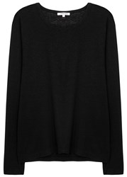 Cotton Citizen Lennon Slubbed Hemp Blend Top Black