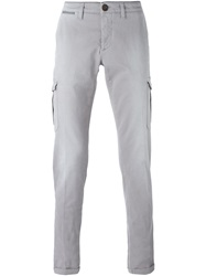 Eleventy Chino Cargo Trousers Grey