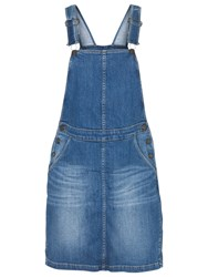 Fat Face Cora Dungaree Dress Denim