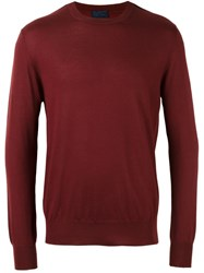 Lanvin Crew Neck Jumper Red