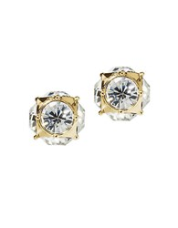 Kate Spade 12 Kt Gold Plated Glass Stud Earrings Two Tone