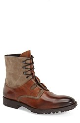 Men's To Boot New York 'Blake' Lace Up Boot Cognac Flint