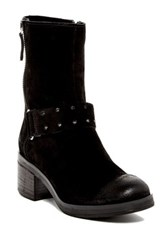 Manas Design Suede Mid Calf Boot Black