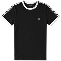 Fred Perry Taped Retro Ringer Tee Black