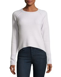 Christopher Fischer Cashmere Crewneck Rib Knit Sweater Quicksilve