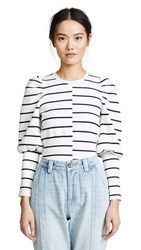 C Meo Collective Sweet Talk Knit Top Ivory Stripe