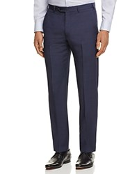 Armani Collezioni Micro Print Regular Fit Trousers Navy Blue