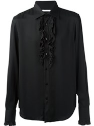 Ermanno Scervino Ruffled Detail Shirt Black