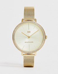 Tommy Hilfiger 1782114 Kelly Mesh Watch Gold